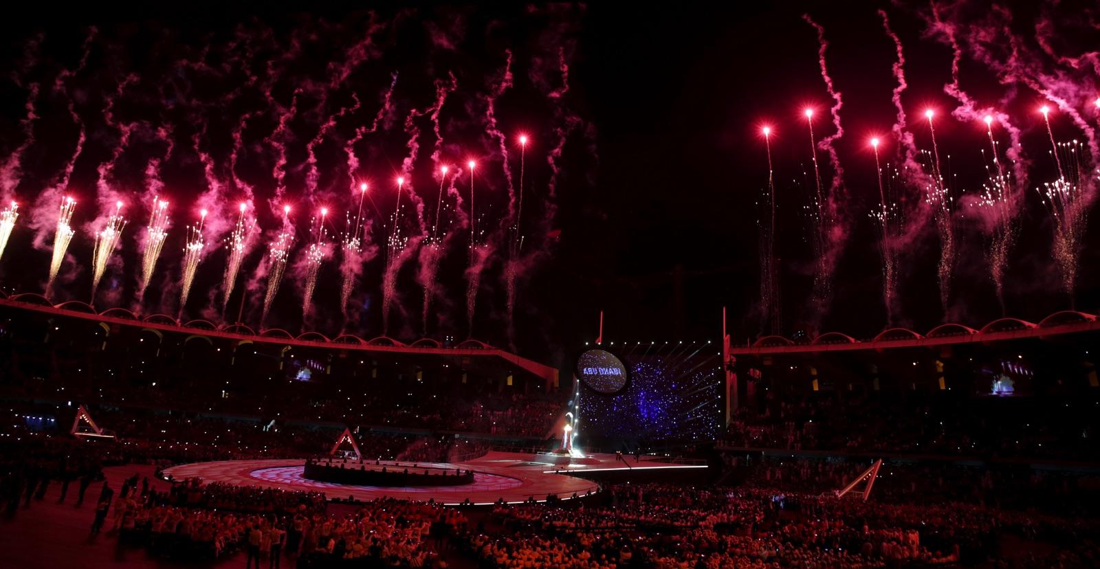 Special oLympics World Summer Games invigdes med fyrverkerier på torsdagskvällen.
