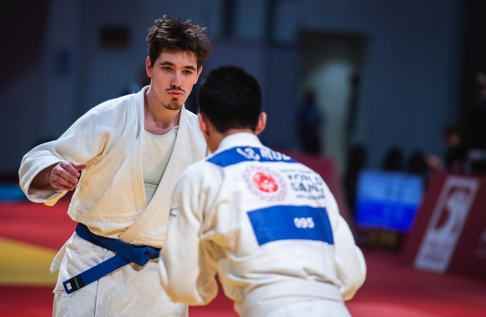 Judokan Alexander Gardsiö gick obesegrad genom sin första internationella tävling.