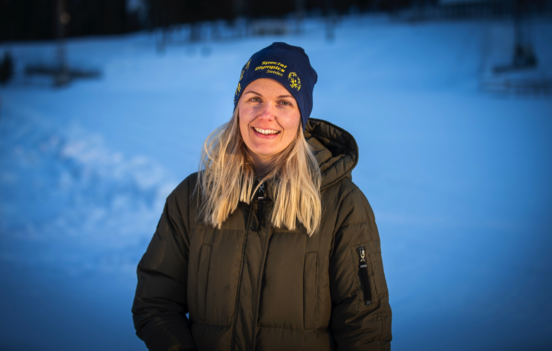 Caroline Olsen, volontäransvarig på Special Olympics World Winter Games.