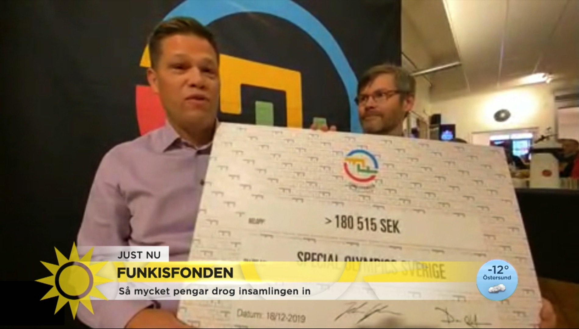 Funkisfonden och Special Olympics i Nyhetsmorgon.