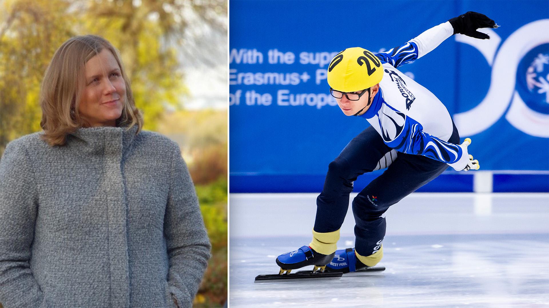 Jennie Florin hjälpte till som volontär på Special Olympics Sweden Invitational Games 2020.