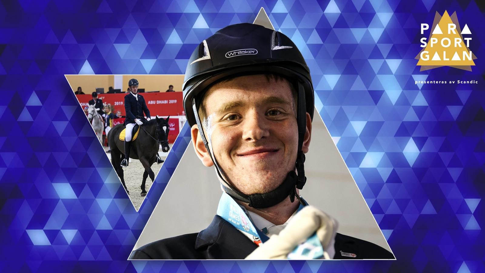 Ryttaren Jimmy Andersson har chansen att ta hem priset Årets prestation inom Special Olympics på Parasportgalan.