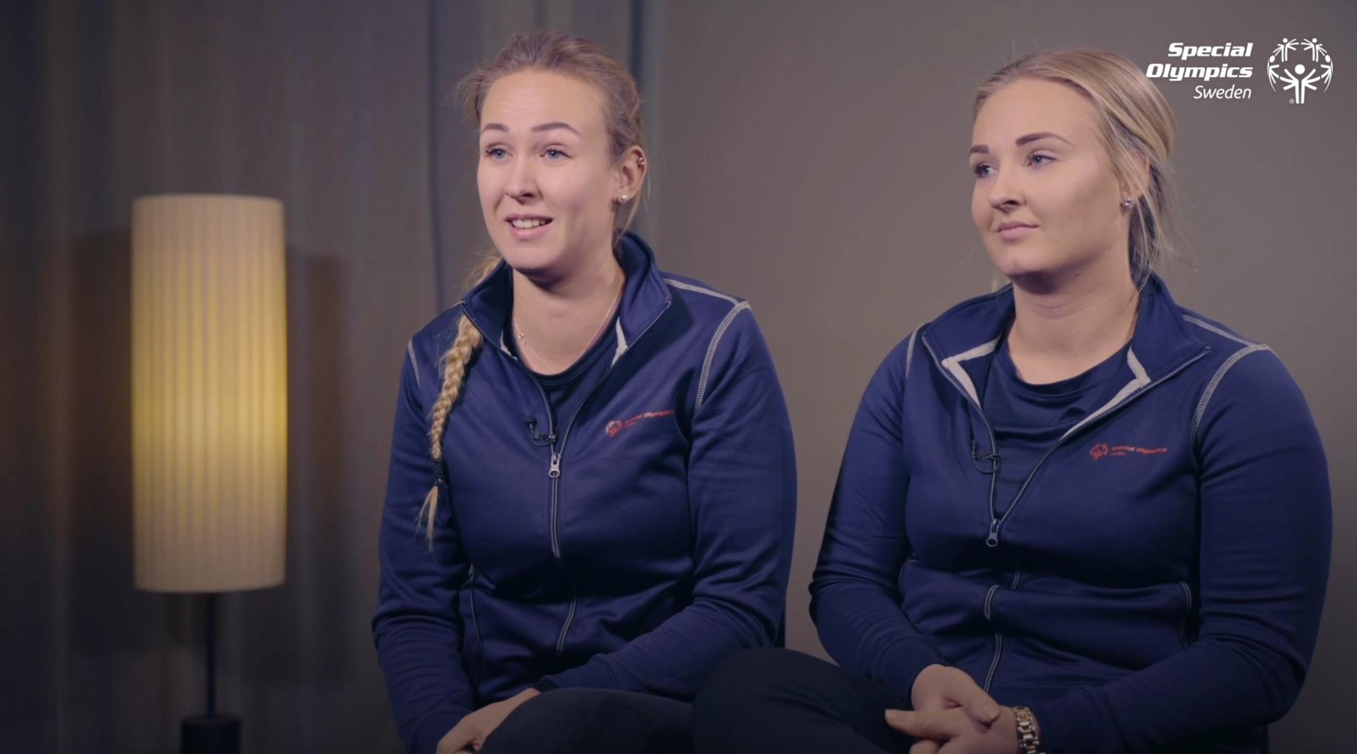 Amanda Ferm och Erika Nylund är mentorer för inom Special Olympics Sveriges ambassadörsprogram.