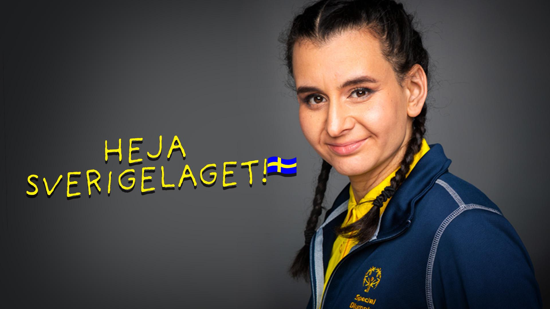 Simmaren Linnéa Bäckman är en av idrottarna som tittarna får följa i tv-serien Heja Sverigelaget!.