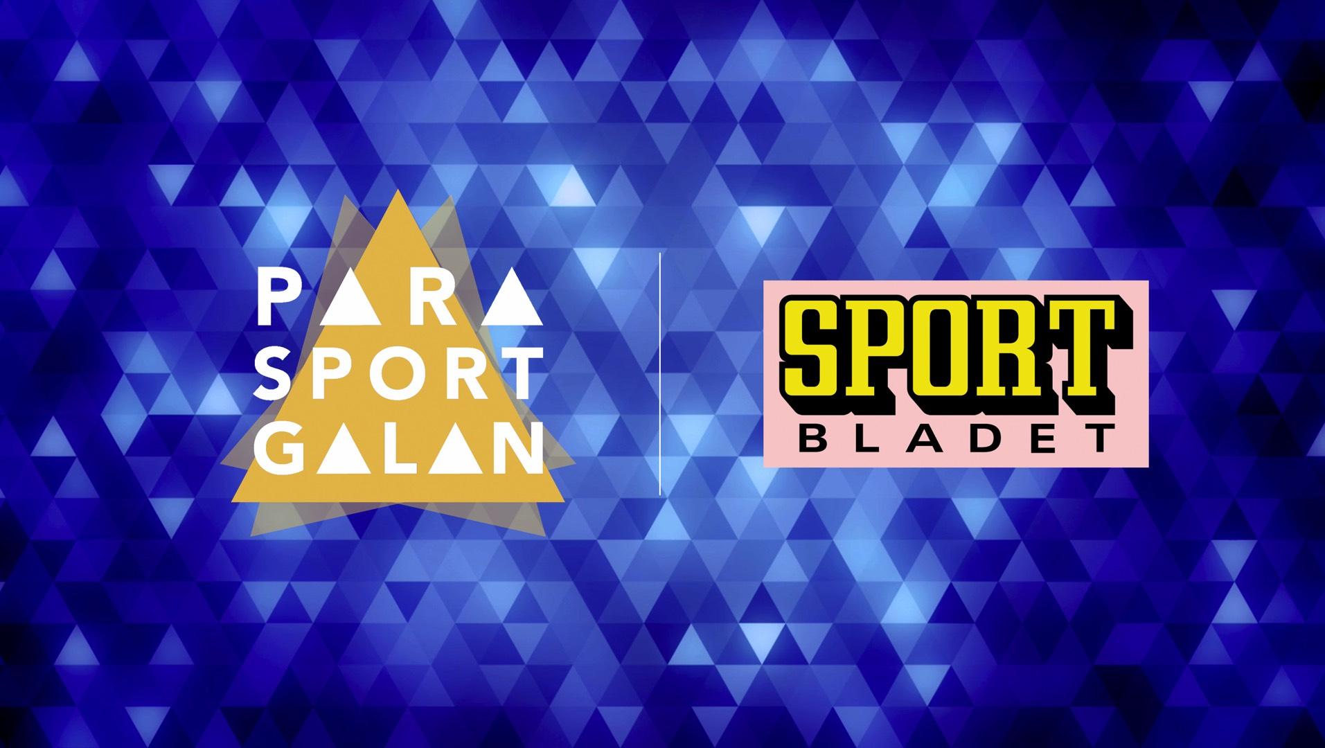 Logotyper för Parasportgalan och Sportbladet.